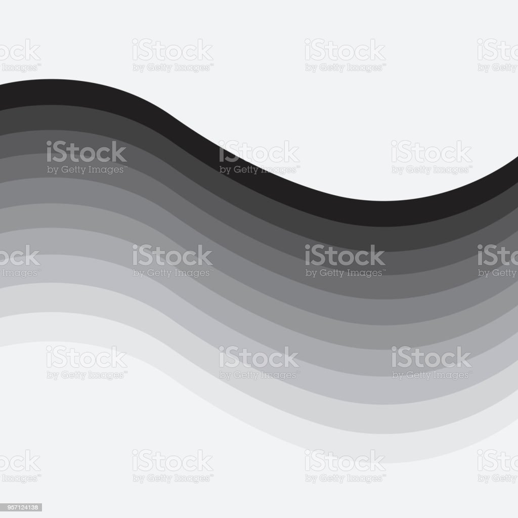 Vector backgrounds color gradient black to white vector art illustration