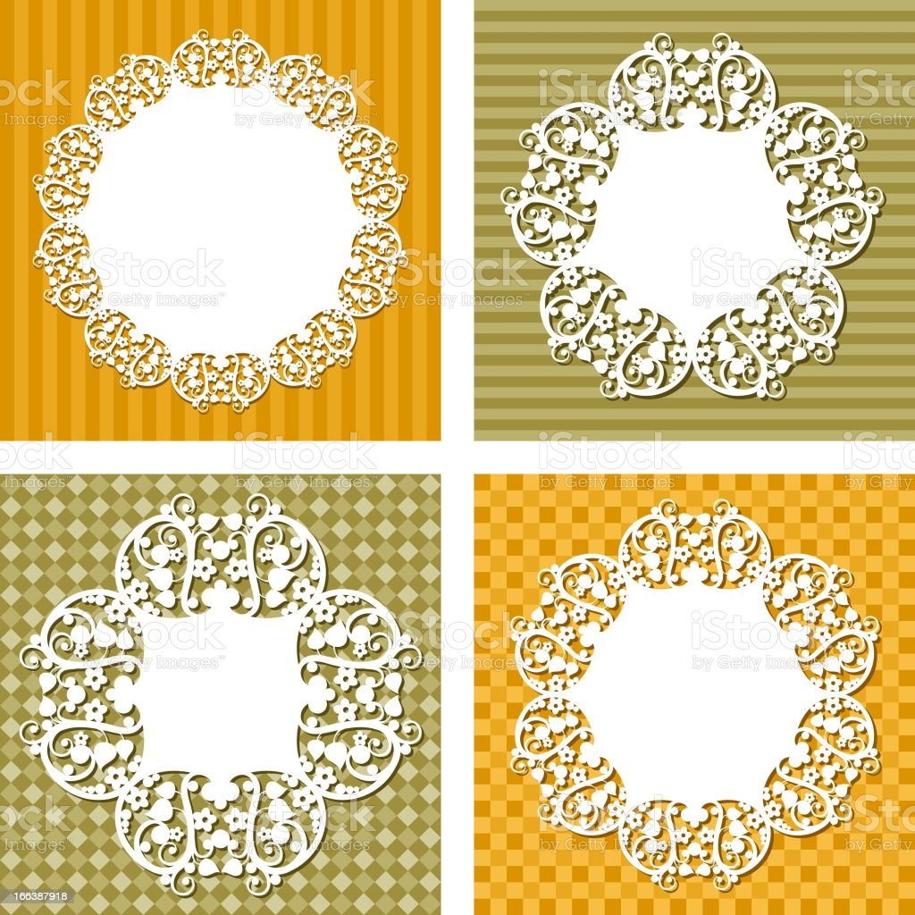 vector backgrounds with napkins royalty-free stock vector art