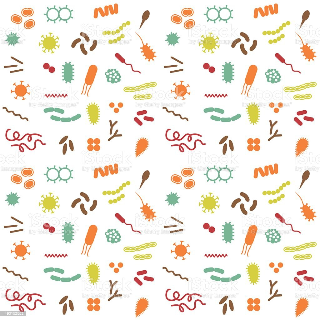 vector bacteria and virus vector art illustration