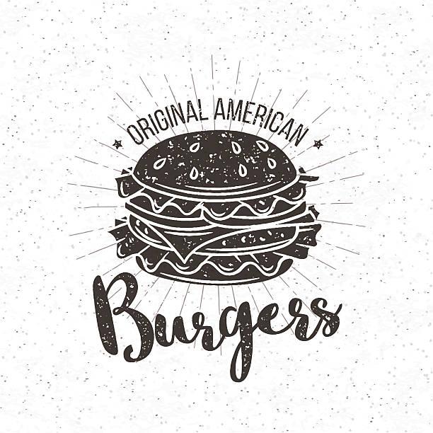 illustrations, cliparts, dessins animés et icônes de vector badge burger - burger