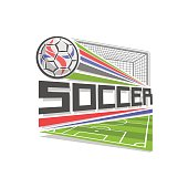 Vector badge for Soccer game