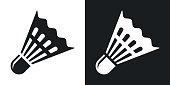 Vector badminton shuttlecock icon.