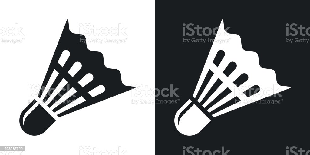 Vector badminton shuttlecock icon. vector art illustration