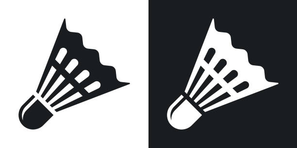 Vector badminton shuttlecock icon. vector art illustration