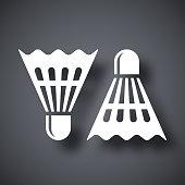 Vector badminton shuttlecocks icon