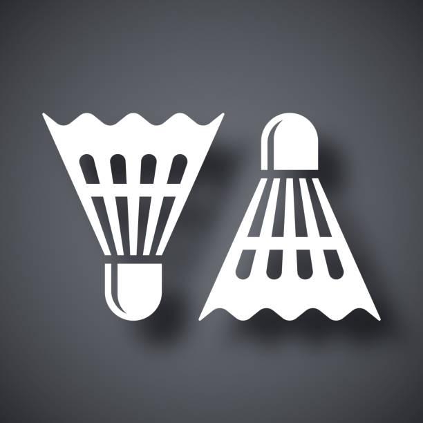 Vector badminton shuttlecocks icon Vector badminton shuttlecocks icon shuttlecock stock illustrations