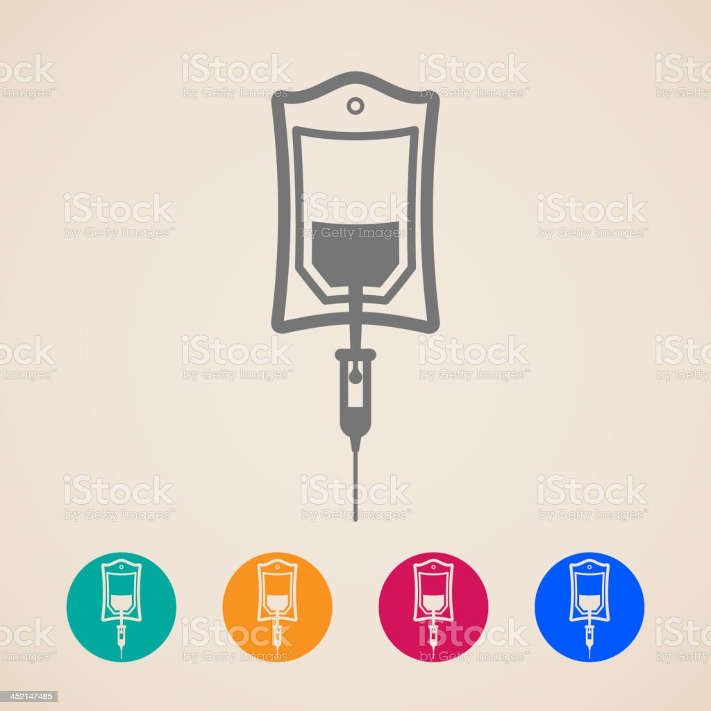 vector bag of blood icons vector art illustration