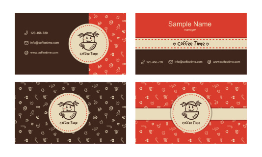 Vector bakery business cards template with logo
