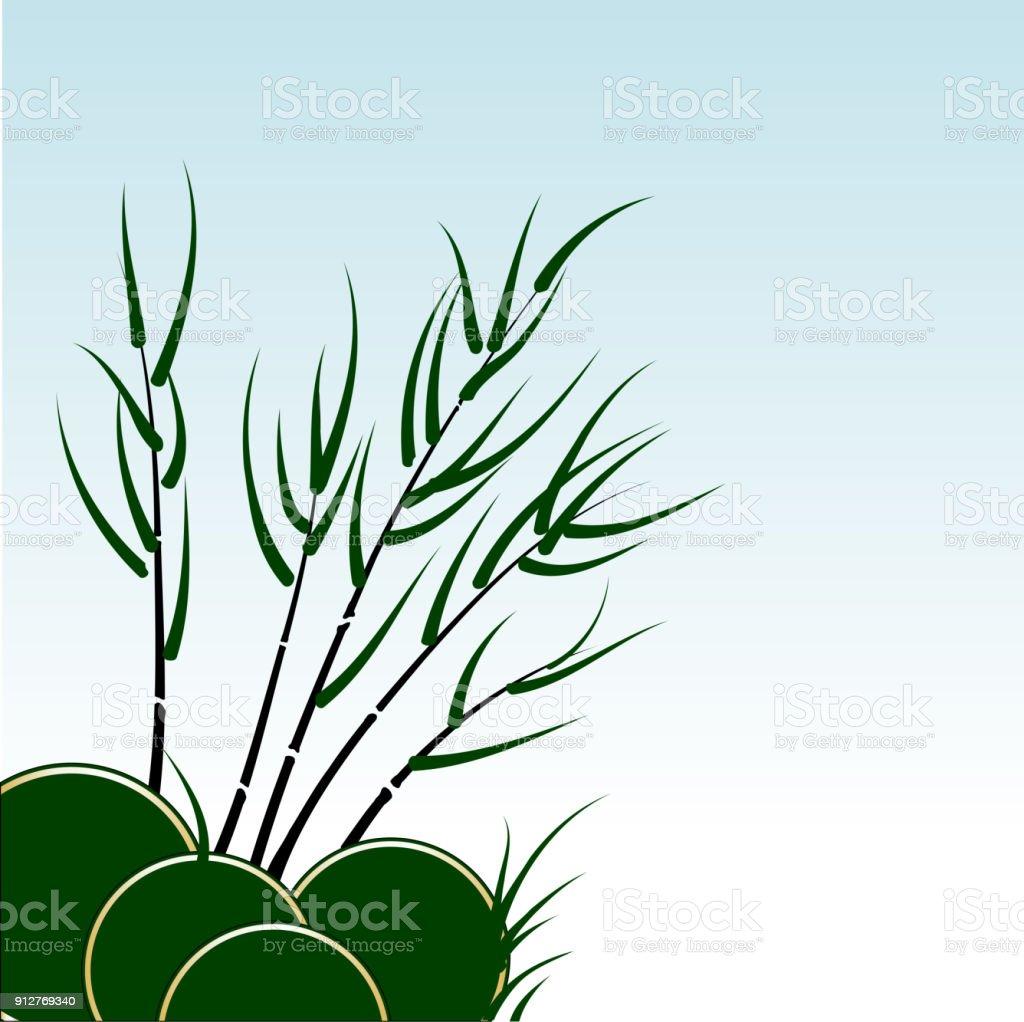 Vector bamboo background vector art illustration