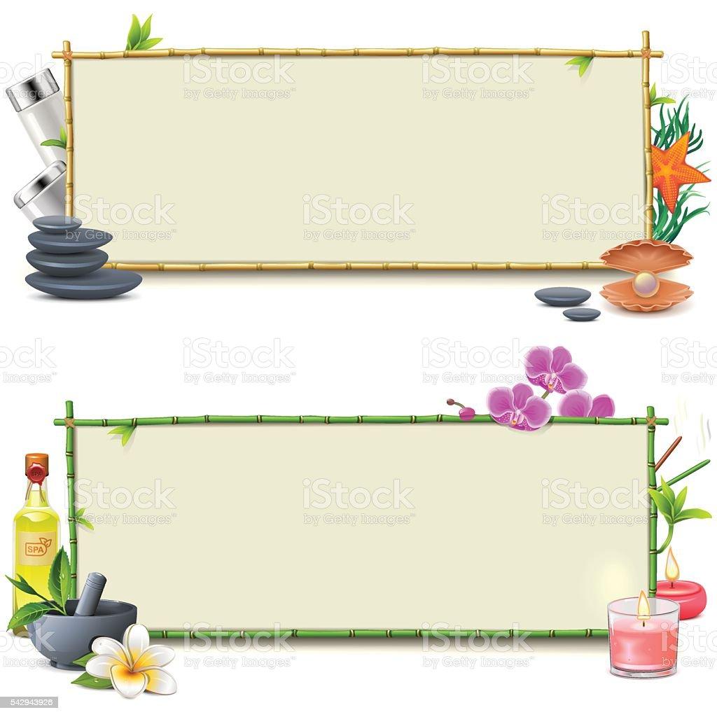 Vector Bamboo SPA Boards vector art illustration