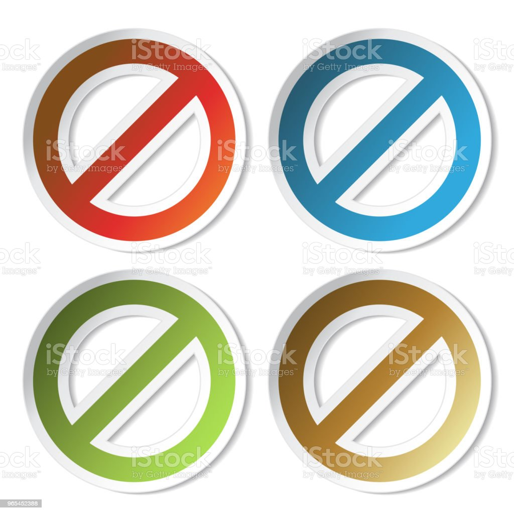 Vector ban stickers royalty-free vector ban stickers stock vector art & more images of alarm