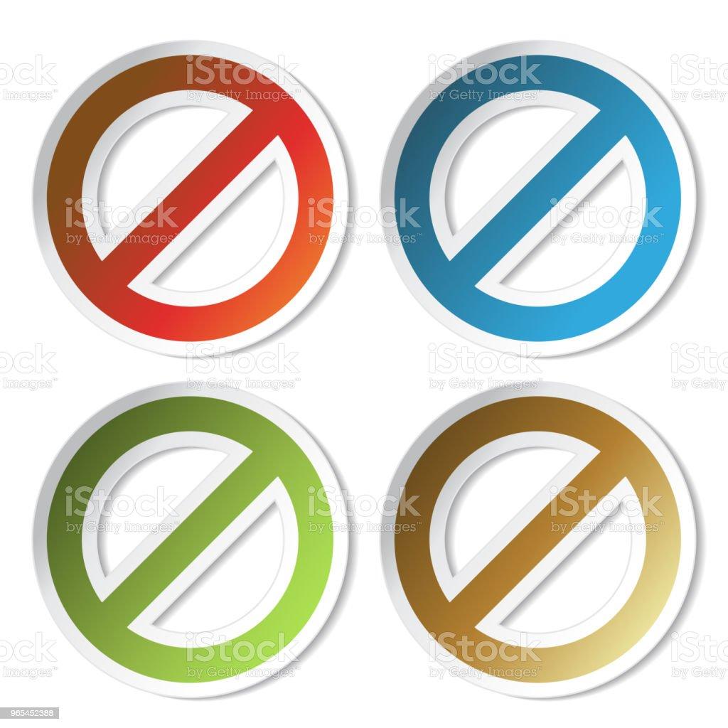 Vector ban stickers vector ban stickers - stockowe grafiki wektorowe i więcej obrazów alarm royalty-free