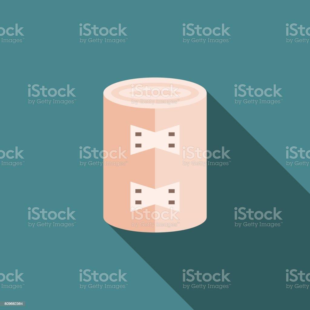 Vector bandage icon vector art illustration