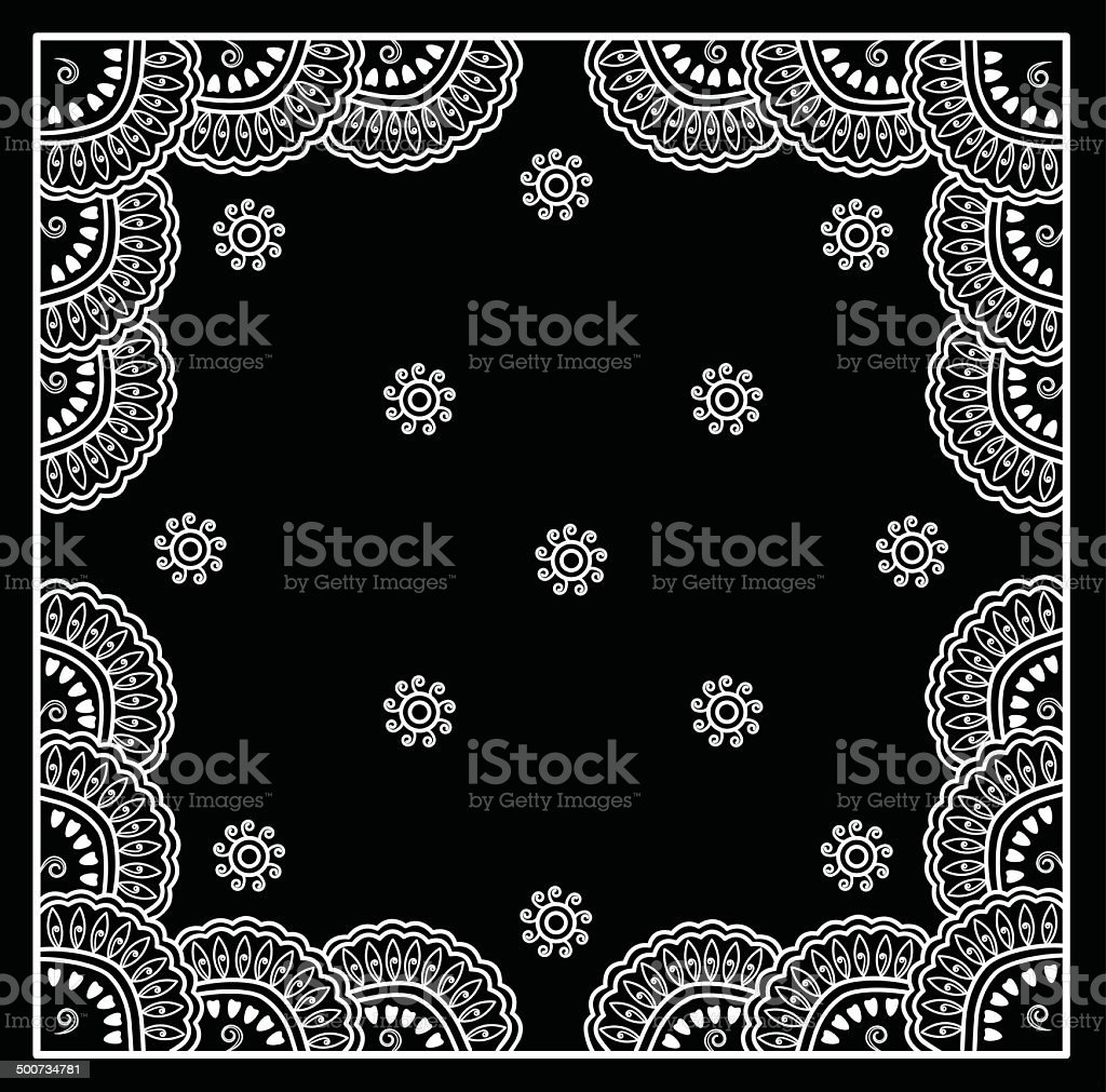 Vector Bandana Design vector art illustration