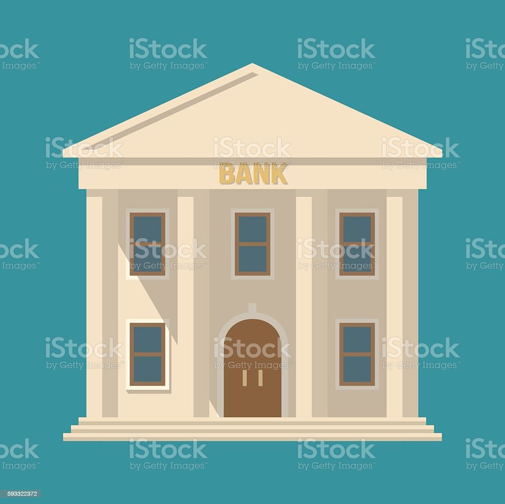 Vecteur bank building - Illustration vectorielle