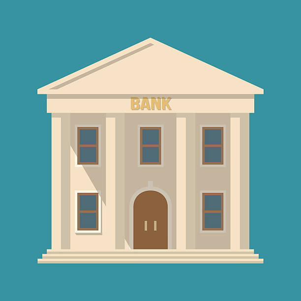 wektor bank building - bank stock illustrations