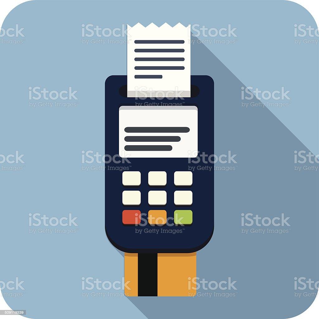 Vector Bank Card Reader vector art illustration