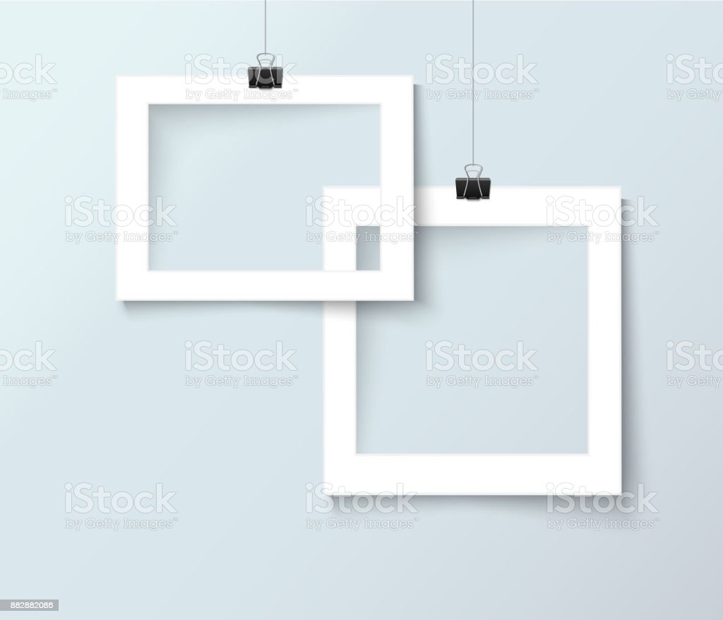 Vector bank photo frames with empty space for your image vector art illustration