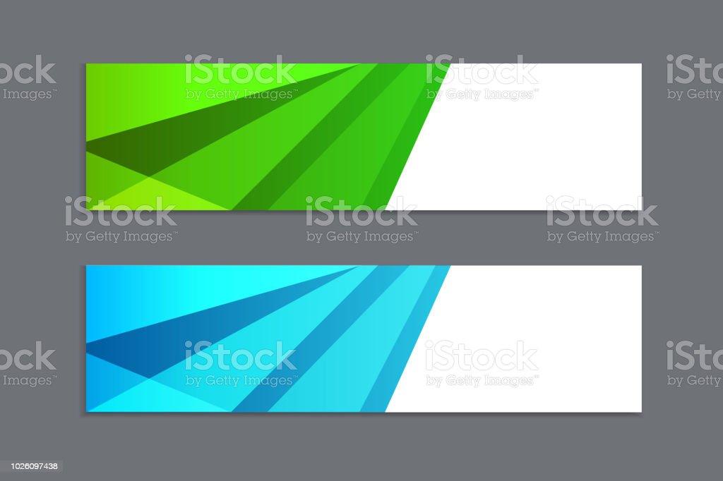 Vector banner design for business. vector art illustration