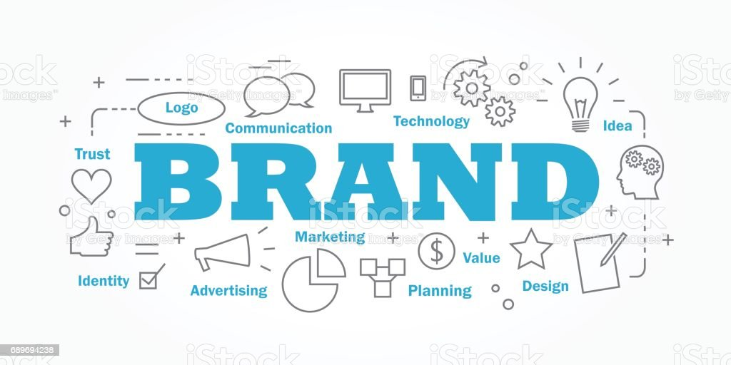 Vector banner flat design in brand concept. vector art illustration