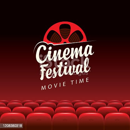 istock Vector banner for cinema festival, movie time 1208380318