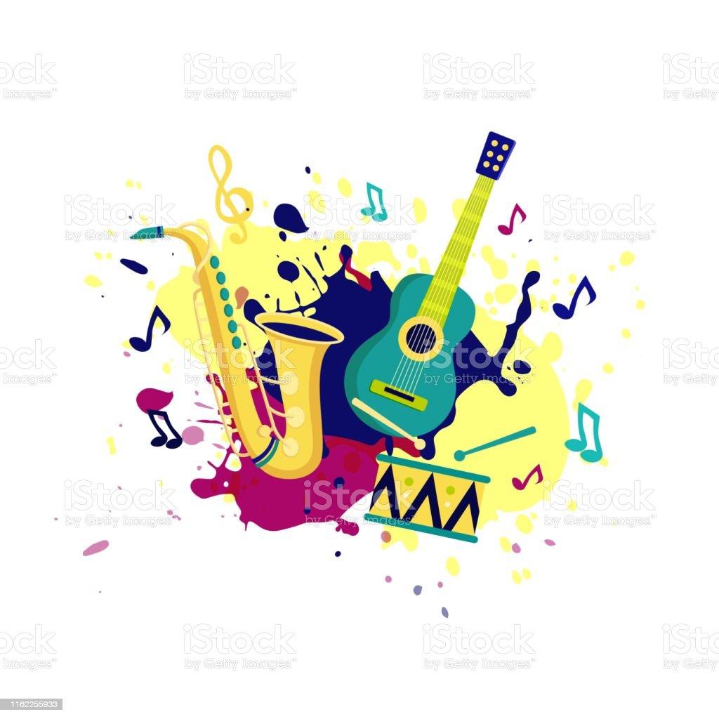 Ilustración De Estandarte Vectorial Para Festival De Música
