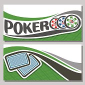 Vector banner of holdem Poker
