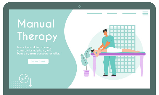 Vector banner of Manual Therapy concept