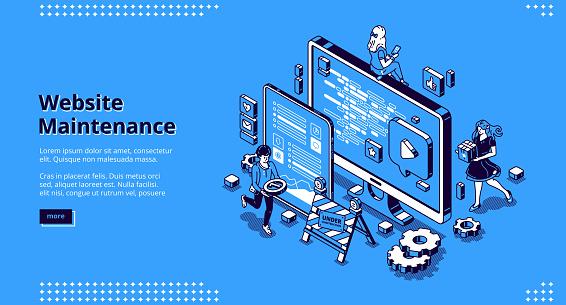 Vector banner of website maintenance