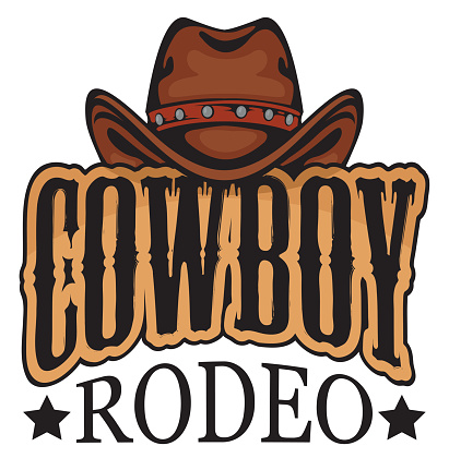 Vector banner or emblem for a Cowboy Rodeo show