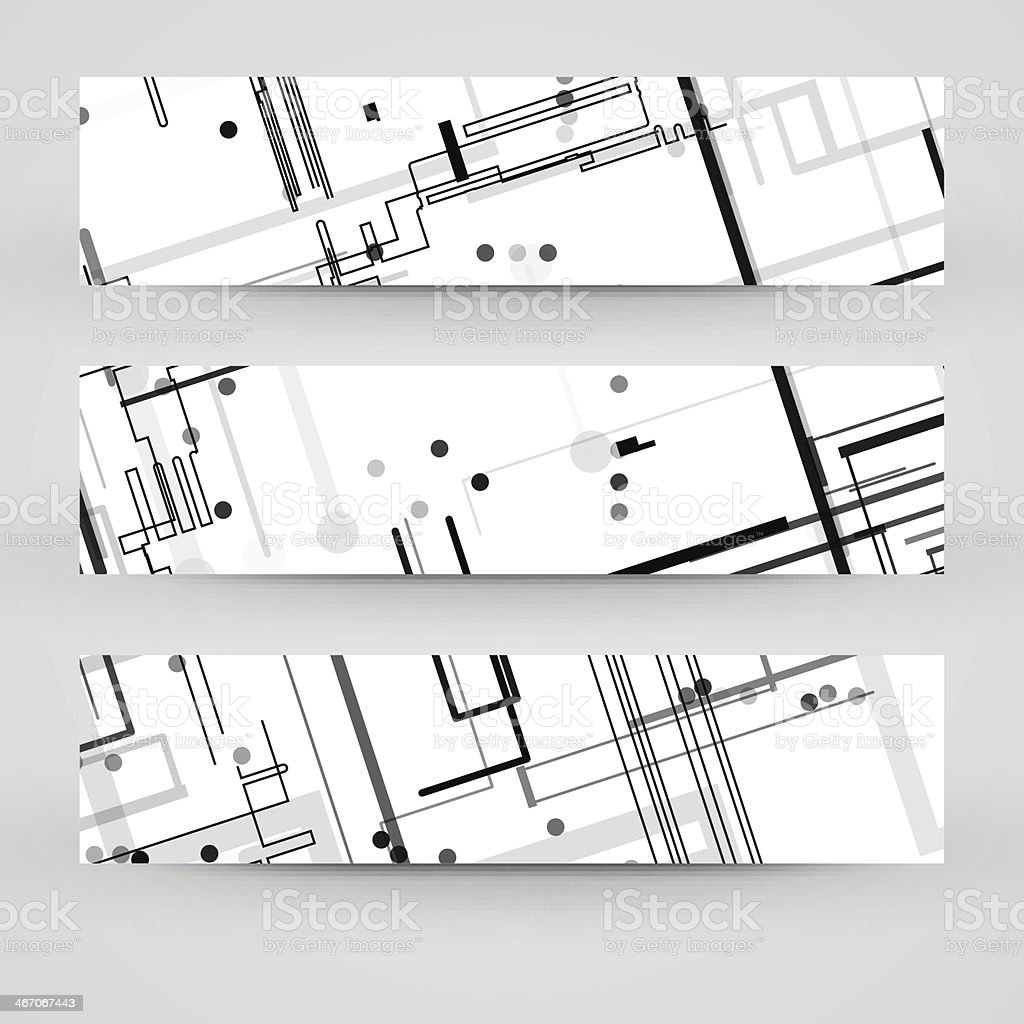 Vector banner set for your design royalty-free vector banner set for your design stock vector art & more images of abstract