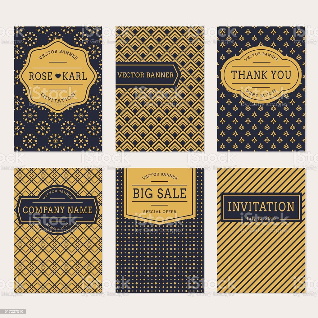 Vector banner set. vector art illustration