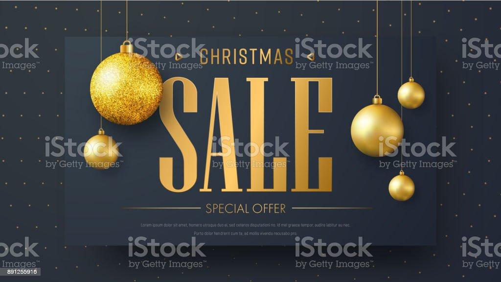 Vektor-Banner-Vorlage für Weihnachtsverkauf – Vektorgrafik