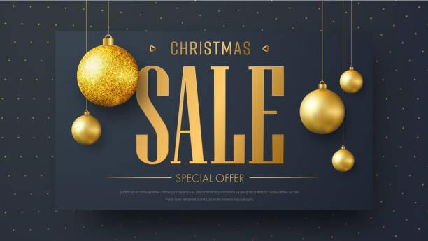 vektor-banner-vorlage für weihnachtsverkauf - firmenweihnachtsfeier stock-grafiken, -clipart, -cartoons und -symbole
