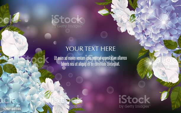Vector banner with luxurious hydrangea and roses flowers vector id1093193144?b=1&k=6&m=1093193144&s=612x612&h=khq1q6vvo 10mgdsbhwzlv6amk7m1zrzat2lugmr05i=