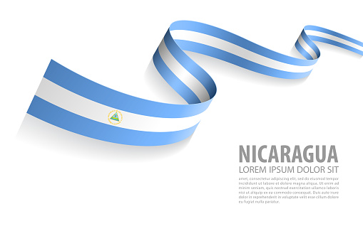 Vector Banner with Nicaragua Flag colors