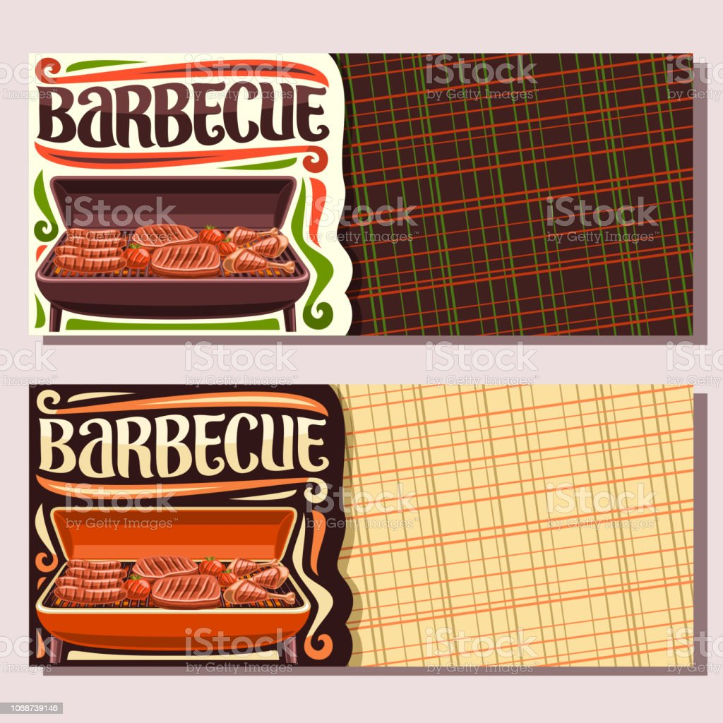 Vector banners for Barbecue vector art illustration