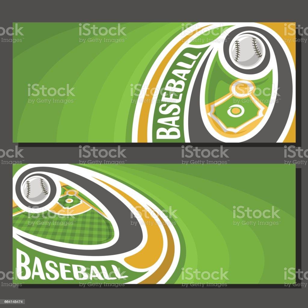Vector banners for Baseball vector art illustration