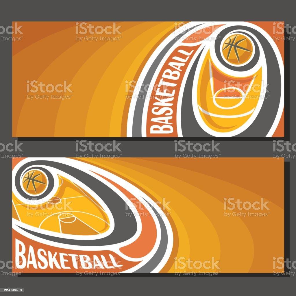 Banners de vector para el baloncesto - ilustración de arte vectorial
