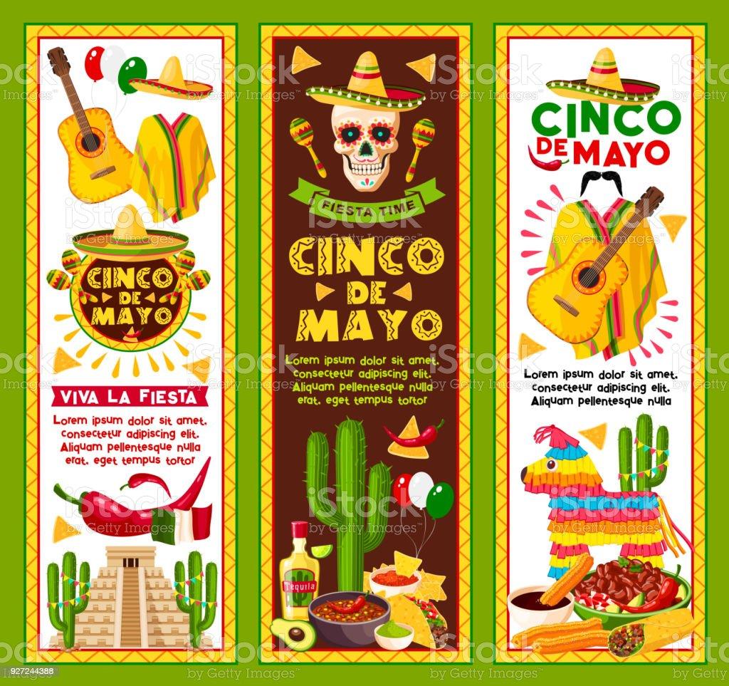Vector banners for Cinco de Mayo Mexican holiday vector art illustration