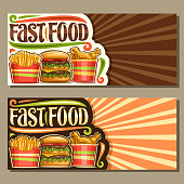 Vector banners for Fast Food