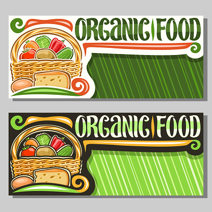 Vector banners for Organic Food