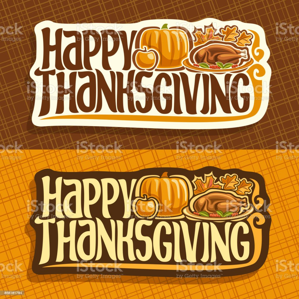 Vector banners for Thanksgiving day vector art illustration