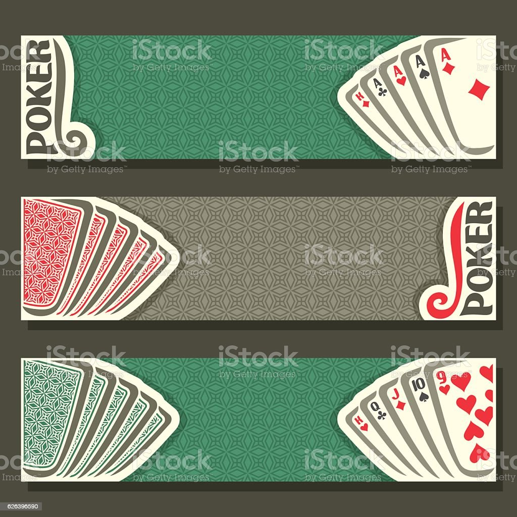 Vector banners of Poker vector art illustration
