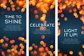 Vector banners set for celebration greetings