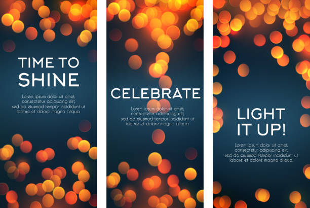Vector banners set for celebration greetings vector art illustration