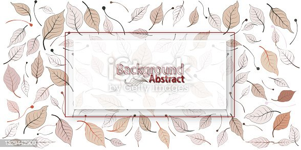 istock Vector banners set with green leaves on white background. Exotic botanical design for cosmetics, perfume, beauty salon, travel agency, florist shop. Best as wedding invitation cards 1329442909