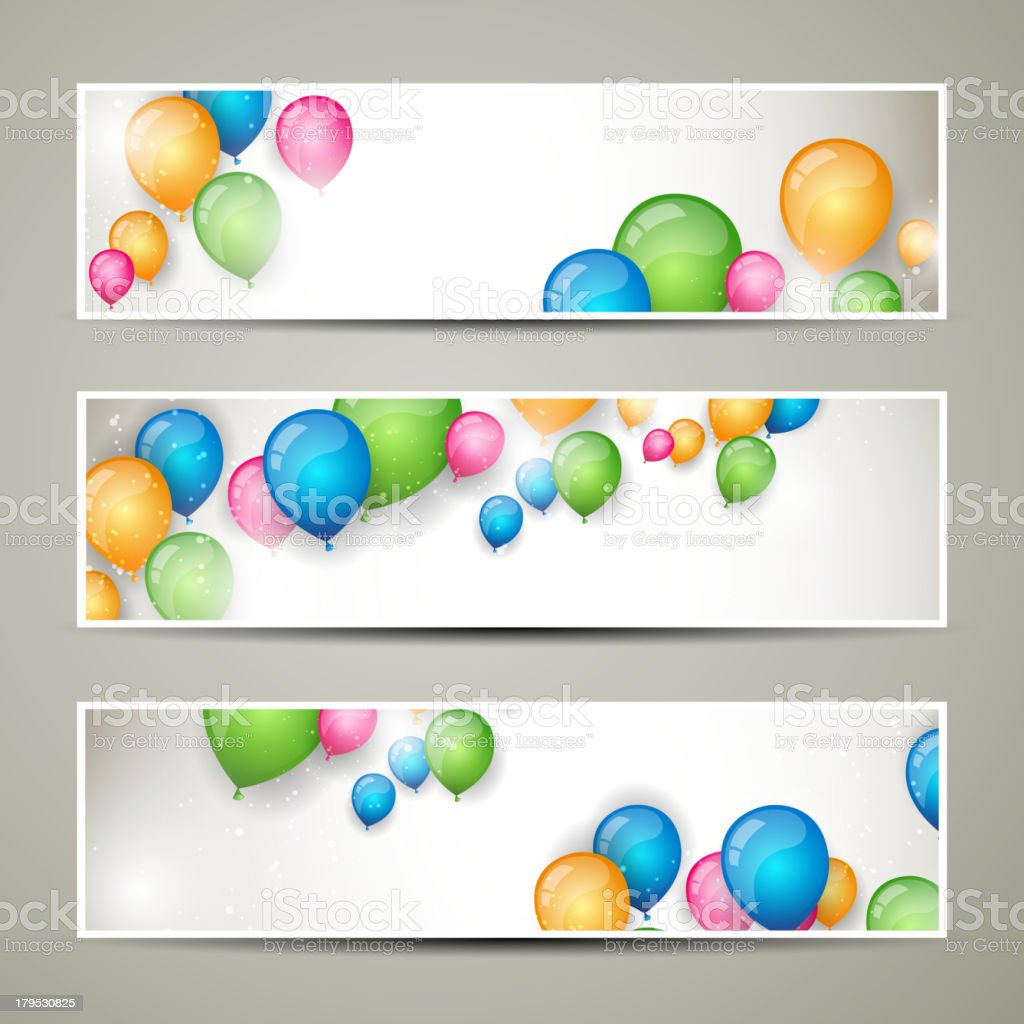Vector Banners with Balloons royalty-free vector banners with balloons stock vector art & more images of abstract