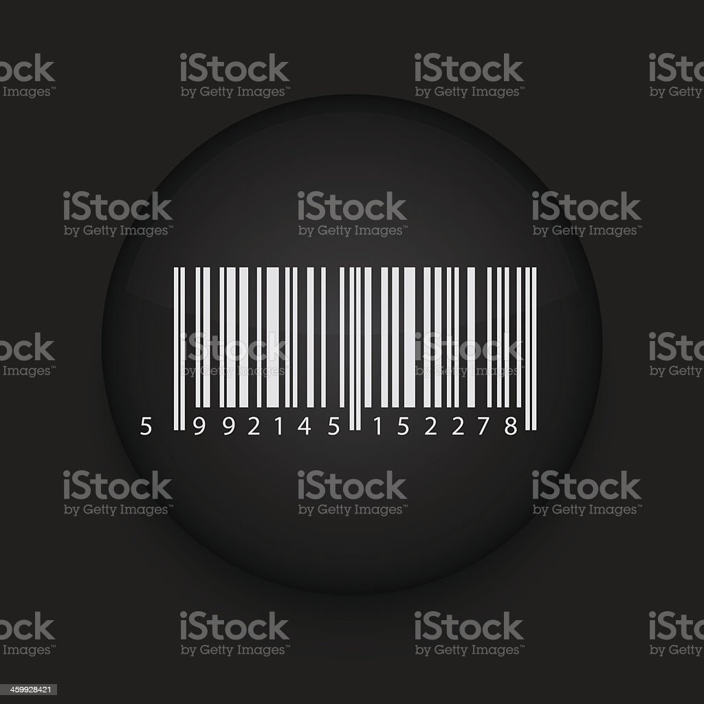 Vector bar code icon. Eps10. Easy to edit royalty-free stock vector art