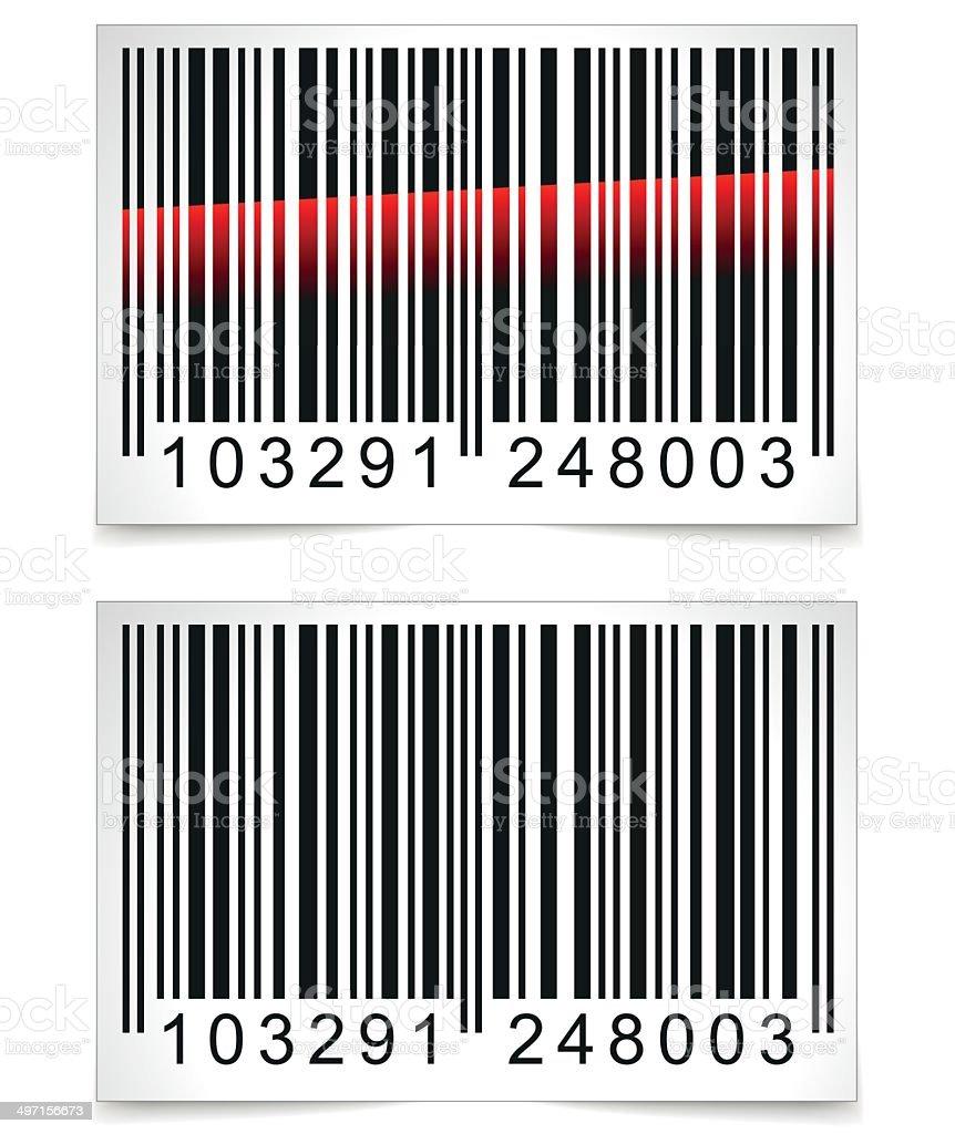 Vector barcode tag vector art illustration